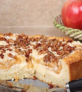 Honey Crisp Streusel Cake