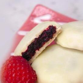 Raspberry-Filled Shortbread Cookies