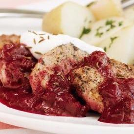 Pork with Cherry Sauce