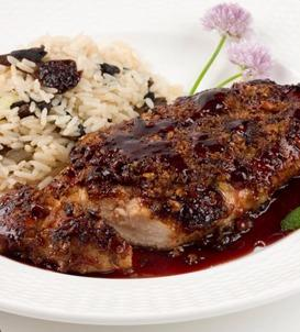 Raspberry Chipotle Sauce Grilled Chicken