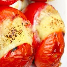 Stuffed Applesauce Tomatoes