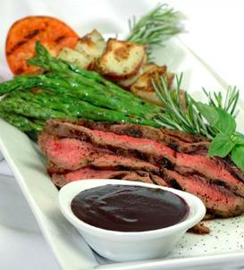 Pepper Steak with Blueberry Balsamic Glaze