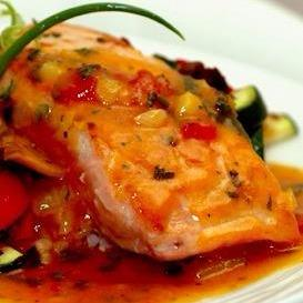 Salmon With Apricot Mustard Glaze