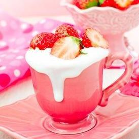 Frozen Strawberry-Lemon Mousse