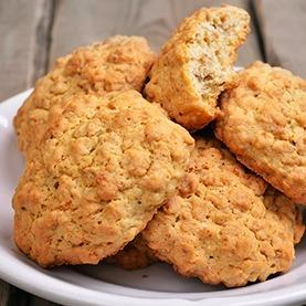 Gluten Free Apple Oatmeal Peanut Butter Cookies