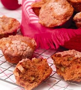 Spicy Apple-Topped Muffins
