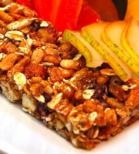 Apple, Apricot and Almond Chewy Granola Bars