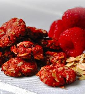 Raspberry Oatmeal Crackers