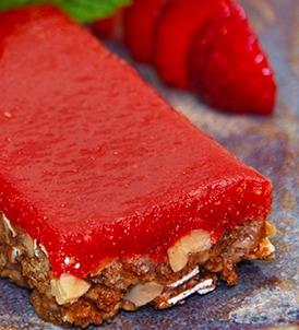 Strawberry Jelly and Peanut Butter Bars