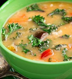 Apple, Butternut Squash and Kale Soup