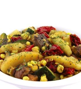 Portabello Mushroom, Roasted Corn and Apple with Chipotle Dressing
