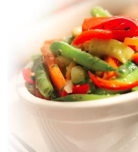 Spring Basil Apple Vegetable Medley